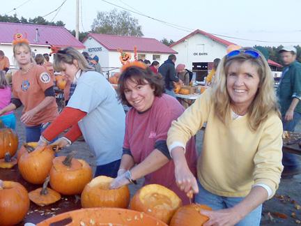 Caj, Lisa, and Carol at Pumpkin Fest photo